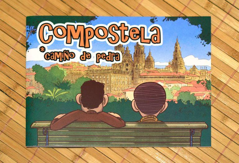 Compostela, camiño de pedra. Portada de bd