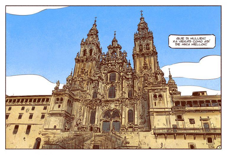 Catedral de Santiago de Compostela. Páxina de bd