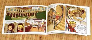 Museo do pobo galego. páxinas de banda deseñada, por I. Mouronte