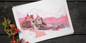 Cabaña ilustración