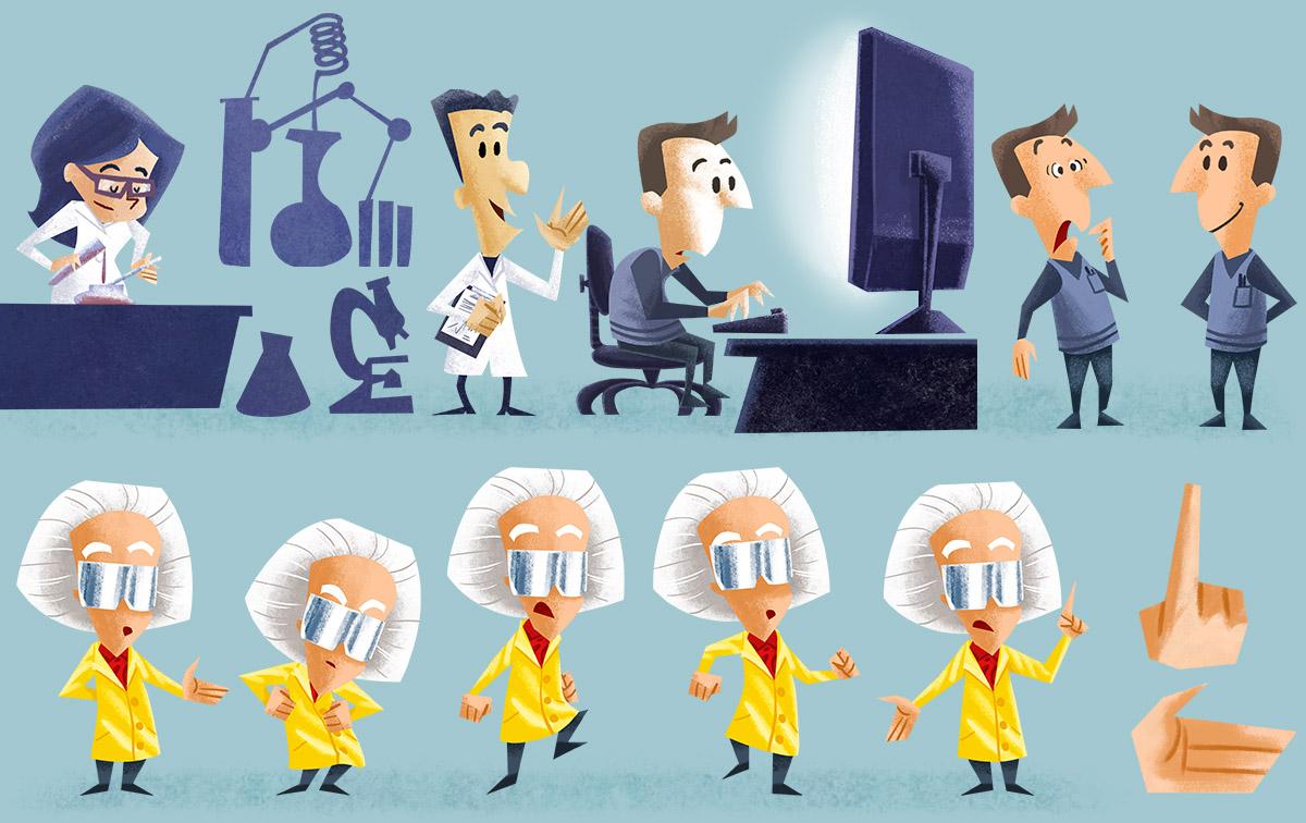deseño de personaxes e obxectos para animación por I. Mouronte B.