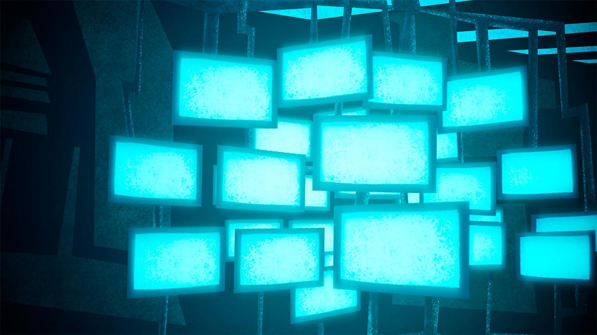 pantallas, gráfico para animación por I. Mouronte B.