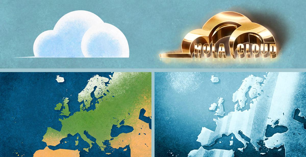deseño de fondos e obxectos para animación por I. Mouronte B.