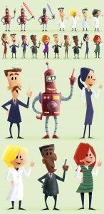 deseño de personaxes para animación por I. Mouronte B.