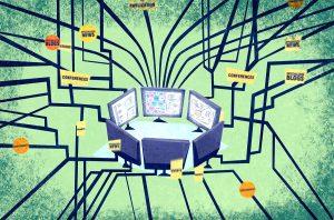 redes de recursos, gráfico para animación por I. Mouronte B.