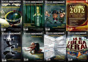 Portadas da revista Voces Indignadas (por I. Mouronte B.