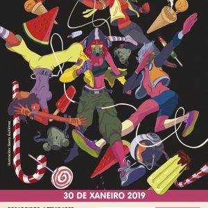 Cartel con ilustración de Santy Gutiérrez