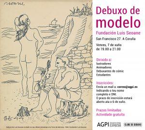 Club de Debuxo: debuxo de modelo @ Fundación Luis Seoane, A Coruña